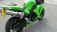 Kawasaki ZX10R 2006-2007  Polished Stainless round race MTC Exhausts