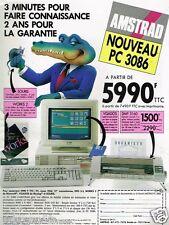 Publicité advertising 1991 ordinateur PC 3086 Amstrad