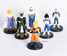 Dragon Ball Z 6x Figures Set: Piccolo Cell Trunks Super Saiyan Goku Gohan Vegeta