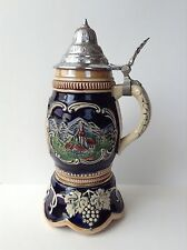 Mittenwald Lidded Beer Stein Germany Original King Music Box