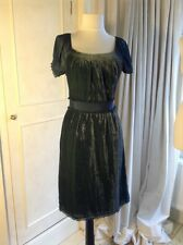 Gorgeous Monsoon Green Velvet Dress Size UK 8