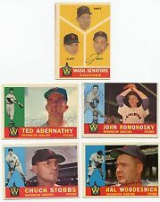 Lot Of 14 Dif Signed 1960 Topps Washington SENATORS ,   +++   KOA