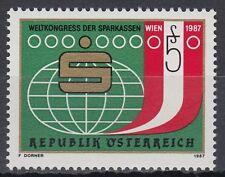 Österreich Austria 1987 ** Mi.1898 Sparkassen Weltkugel Globe Globus Bank