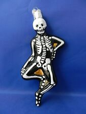 Mr Bones Skeleton Corpse Old World Halloween Glass Christmas Ornaments NWT 26066