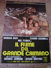 IL FIUME DEL GRANDE CAIMANO BARBARA BACH MARTINO  SOGGETTONE 100X70CM