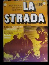 LA STRADA Filmplakat Poster Plakat FEDERICO FELLINI Anthony Quinn 1954/69