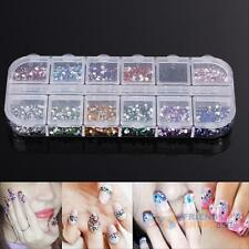 3600PCS Acrylic Glitter Powder Hard File Nail Art UV Gel DIY Tips Decoration Set