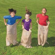 LA Linen Burlap Potato Sack Race Bags 23 x 40 (Pack of 6)