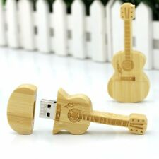 Wooden Guitar Shaped 16 GB  Fancy Cool Cute Stylish USB Pen Drive