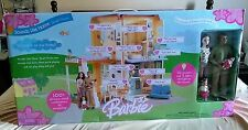 BARBIE HAPPY FAMILY SOUNDS LIKE HOME SMART HOUSE with NEIGHBORS & KIDS RARE SET