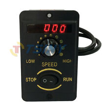 220V 200W Digital Display Electrical Reversible Motor Speed Controller Switch