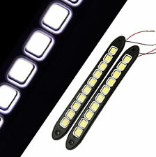 2Pcs 20W Waterproof LED 12V Daytime Running Light DRL #V COB Strip Lamp Fog Car