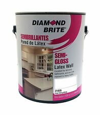 Diamond Brite Paint 21050 1-Gallon Semi Gloss Latex Paint High Hiding White
