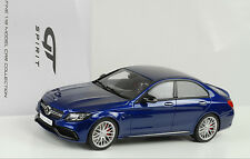 2015 Mercedes-Benz C-Class C63 AMG S sedan blau metallic 1:18 GT Spirit ZM044