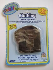 "xbx camo cargo pants WEBKINZ PET CLOTHING 8"" dog cat monkey horse etc new code"