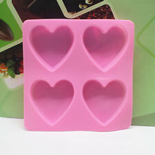 Heart Silicone Cake Chocolate Baking Mould Tin Jelly Pudding Soap Mold Hot Sale
