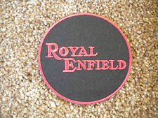75mm ROYAL ENFIELD MOTORBIKE EMBROIDERED PATCH