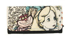 New LOUNGEFLY DISNEY Wallet ALICE IN WONDERLAND Cheshire Cat FLORAL GIRL Cartoon