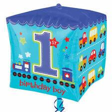 All Aboard 1st birthday Boy Cubez Balloon Party Decorations Helium air party dec