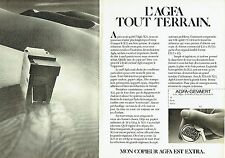 PUBLICITE ADVERTISING 027  1982  le  copieur  Agfa Gevaert  X22  ( 2 pages)