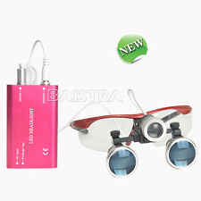 Surgical Magnifier Medical Binocular Loupe 3.5X-420 + Dental LED Head Light Lamp