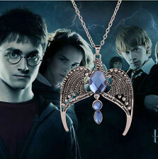 Harry Potter the Deathly Hallows Ravenclaw's Diadem Pendant Necklace Chain XG