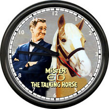Mr Mister Ed Talking Horse TV Show  Barn Stall Equestrian Gift Sign Wall Clock