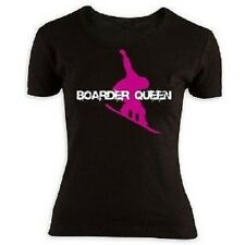 Boarder Queen Girlie T-Shirt Snowboard Fun Shirt in Größe L
