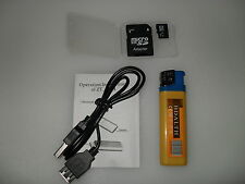LIGHTER SPY CAMERA + MICRO HD 8 GB SD CARD PHOTO VIDEO  AUDIO UK SELLER / STOCK
