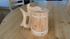 Carved Swedisch drinking can tankard Ale Bowl Sweden signed TR 1983
