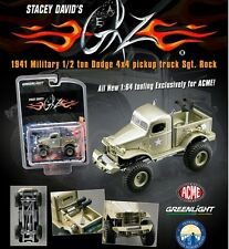 STACEY DAVID'S SGT.ROCK 1941 MILITARY DODGE 1/2 TON 4X4 PICKUP 1/64 ACME 51013