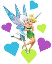 Tinkerbell & Periwinkle Totally Movable Wall Sticker Decal Remove & Reuse Decor
