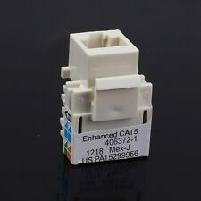 10pcs/set RJ45 Cat5 Punch Down Keystone Jack Network Ethernet White Lot Pack