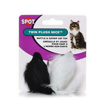 SPOT ETHICAL MIAMI MICE TWIN 2 PACK CAT TOY BLACK/WHITE LONGHAIR FREE SHIP USA