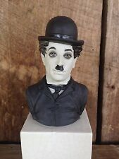 "RARE Vtg Algora CHARLIE CHAPLIN Porcelain Bust 9"" Collectible Statue Spain OFFER"