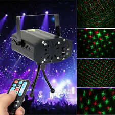 Mini Stage Projector Lighting DJ Disco Light R&G Party Xmas Club Laser Show Lamp