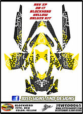 SKIDOO SNOWMOBILE WRAP REV,XP, XR,XS,XM MXZ  99-16  STICKER DECAL BLOCKHEAD