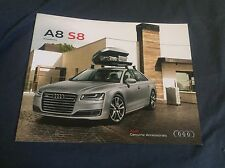 2017 Audi A8 Accessories USA Color Brochure Catalog Prospekt