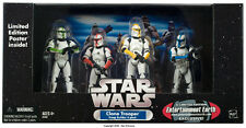 4-Pack Clone Troopers Colored w/Battle Damage - Star Wars Entertainment Earth