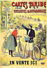 Art ad cartes taride bicycle cartes vélo déco poster print