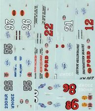 LOT DECALS 1/43 FORD FAIRLAINE NASCAR - COLORADO  DCV017