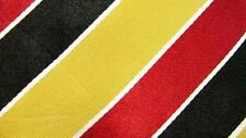 NNPC RED BLACK YELLOW STRIPES PATTERN WIDE SILK NECKTIE TIE MJA2117B #N11