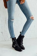 Free People Outsiders Moto Boots size 40/10 new in box black $228