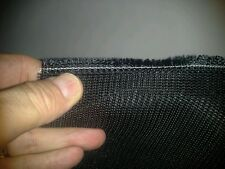Jet Black MilitaryBait Mesh Poly heavy weight selling by sq foot, 12 x 12 inches