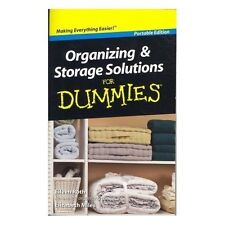 Organizing And Storage Solutions For Dummies Very Good Books