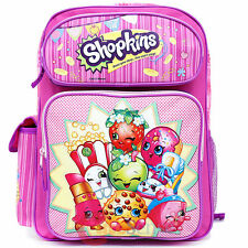 "Shopkins Large School Backpack 16"" inches Girls Book Bag - Licensed Product"