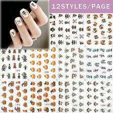 12 Design Cartoon Decals Water Transfer Nail Sticker Set Nail Art NS161
