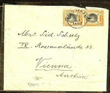 NORTH BORNEO (P1106B)  1897 5C BIRD PR SANDAKAN TO AUSTRIA