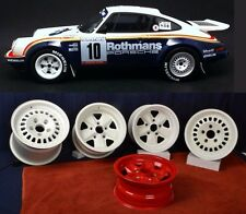 Porsche 1984 911SC RS Rothman Rally Car Wheels 9 & 11 x 15 with Spare