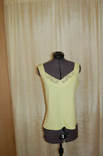 NWT Rum Runner Lime Silk/ Cotton Lace Trim Top Tank Size L $ 59